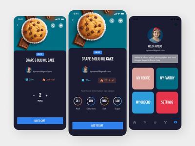 Recipes App app design ux ui