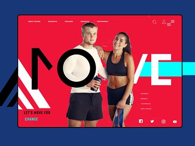 Fitness Landing Page art website typography branding web ui ux design