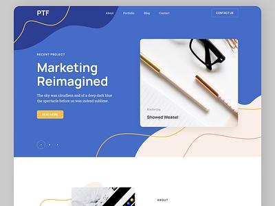 Marketing Web design marketing uiuxdesign uiux newdesign designs new typography website web ux ui design