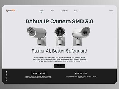 Online Security Cameras uiux uiuxdesign new designs branding web typography ux ui design