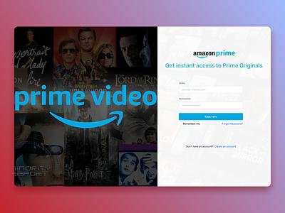 Amazon Prime Video branding website uiuxdesign uiux design ui new designs web ux