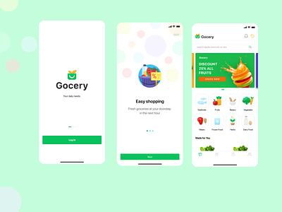 Online Grocery App app ux ui design
