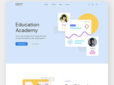 Online Education web design art branding website typography vector web ux ui design