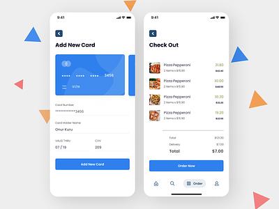 Food ordering App icon minimal app ux ui design