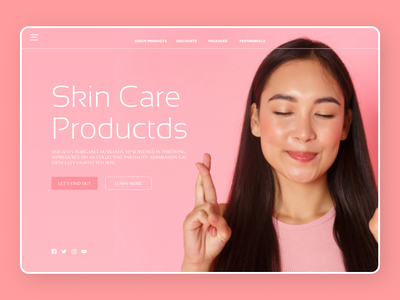 skin Care Products uidesign newdesign new designs branding web art ux ui design