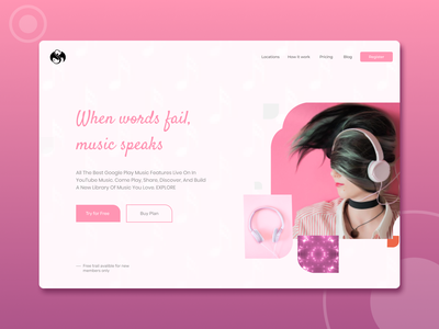 Music Web typography uidesign newdesign new designs branding web ux ui design