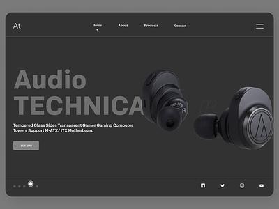 Electronics Accessories typography uidesign newdesign new designs branding web ux ui design