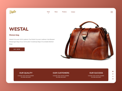 Hands Bags Web Design typography uidesign newdesign new designs branding web ux ui design