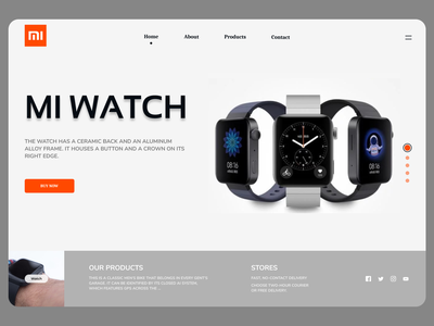 Online Watches typography branding uidesign newdesign new designs web ux design ui