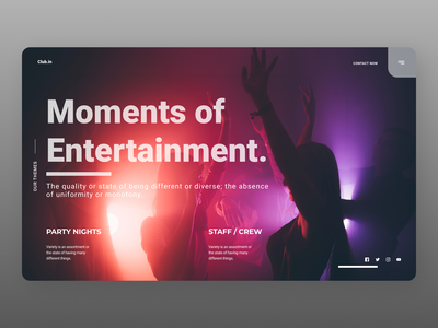 Club Landing Page typography uidesign newdesign new designs branding web design ux ui