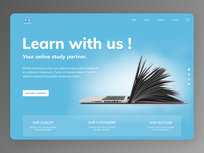 Online Education minimal uidesign new newdesign designs branding design web ux ui