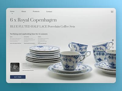 Online Crockery typography uidesign newdesign new designs branding web ux ui design