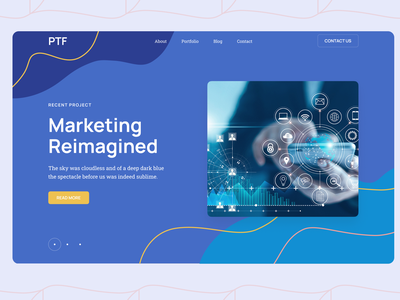 Marketing Agency Web Page web ux ui design
