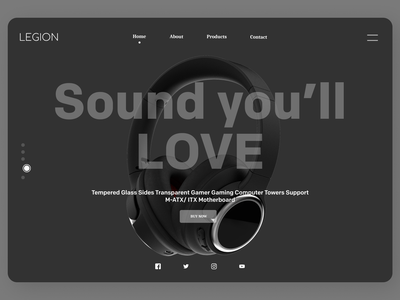 Earphones Web Design uxde uidesign new minimal firstshot designs web ux ui design