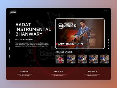 Music Instruments uxdesign minimal new uidesign firstshot designs design web ux ui