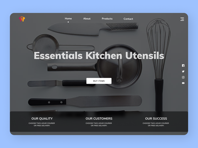 Kitchen Utensils uxdesign uxde uidesign new firstshot designs web ux ui design