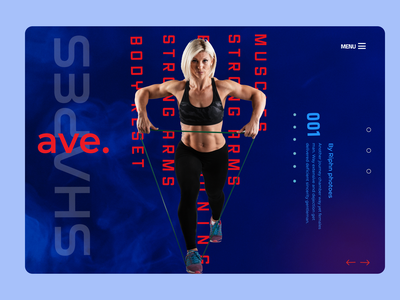 Fitness Landing Page typography web ux ui