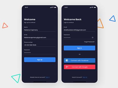 Social media App art minimal flat design app web ux ui