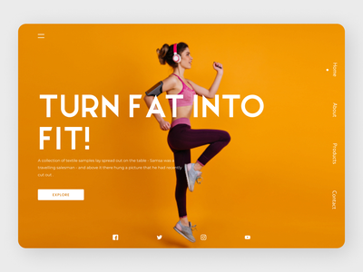 Fitness Trainer clean uidesign new latest designs eclean design web ux ui
