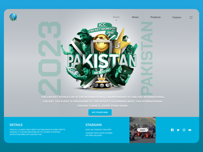 Cricket League clean latest uidesign new designs eclean design ui web ux