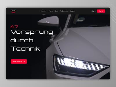Cars Landing Page typography web ux ui design