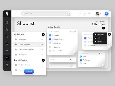 Online Shopping Dashboard ux ui design