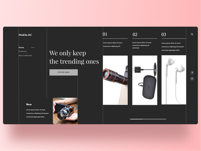 Electronics Accessories animation minimal new web design webdesign web typography ux ui design