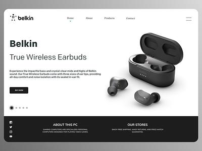 Earphones Web Design minimal online branding web design webdesign new web typography ux ui design