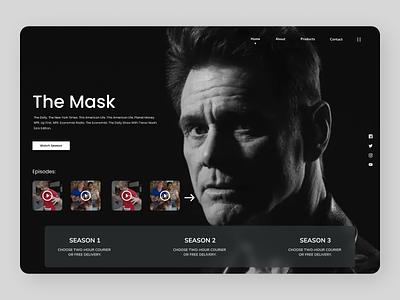 Movies web typography branding online web design webdesign new web design ui ux