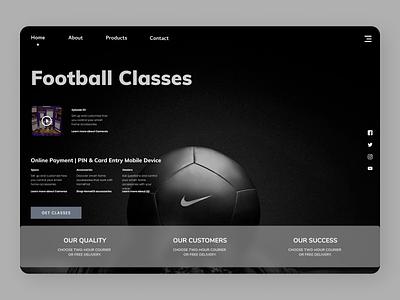 Football trainer web branding online web design webdesign new typography design ux ui
