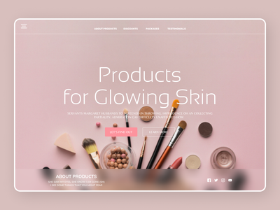 Beauty Products new desktop desin art website web typography ux ui design