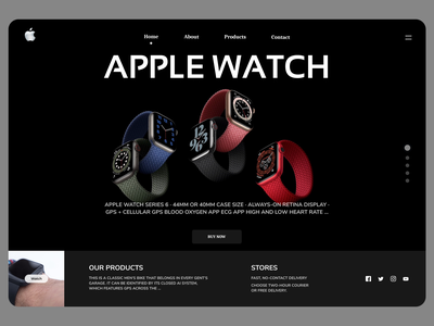 Online Watches Web Concept onile webdesign new desin website web ux typography design ui