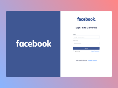 Facebook login webdesign desktop new desin web website typography ui ux design
