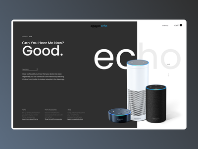 ECO Sound onile webdesign desktop desin website web ux typography design ui