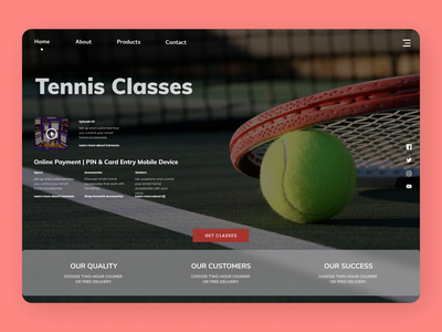 Tennis Trainer onile new webdesign desktop desin web website typography design ux ui