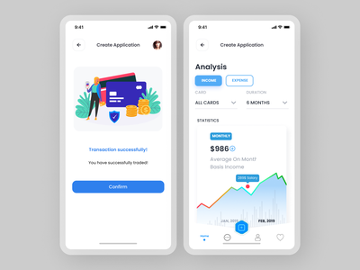 Payment Analysis App typography animation minimal ux ui design app