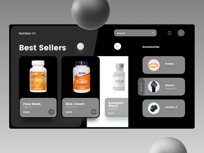 Online Accessory Web designs uxdesign shop uiuxdesign uidesign uiux shopify typography web ux ui design