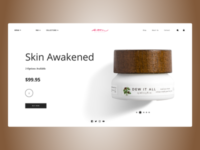Beauty Products uiuxdesign uidesign shopify shop designs web typography ux ui design