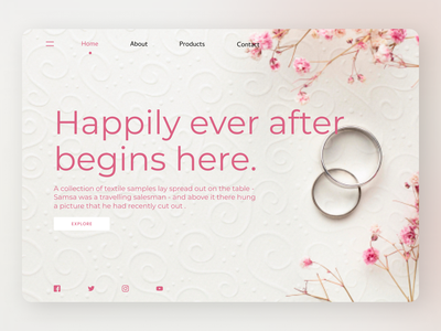 Wedding jewelry uiux shopify uiuxdesign uidesign designs web typography ux ui design
