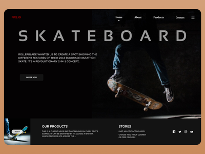 Skateboard web design uiux shop shopify uiuxdesign uidesign designs web ui ux design