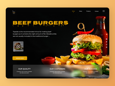 Fast Food UI shop typography uiux shopify uiuxdesign uidesign designs web ux ui design