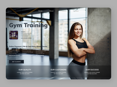 Gym Trainer typography uiux shopify uiuxdesign uidesign designs web ux ui design