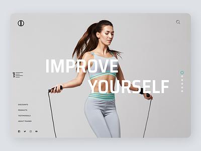 Fitness Web design uiuxdesign uidesign uiux desgin newdesign new web typography ux ui design