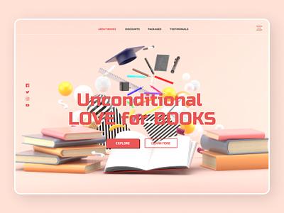 Books Reading newdesign new desgin branding app web typography ux ui design