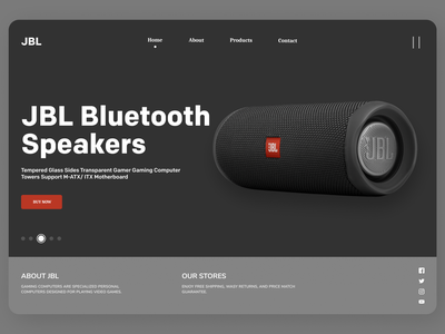 Bluetooth Speakers uiux uiuxdesign uidesign branding newdesign new desgin web typography ux ui design