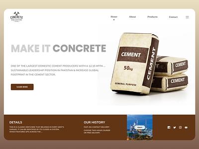 Concrete Co uiuxdesign uiux uidesign branding newdesign new desgin ux web design ui