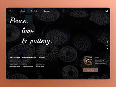 Pottery Web uiuxdesign uidesign uiux illustration newdesign new desgin web ui ux design