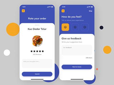 Online Food Ordering App flat ux ui design app