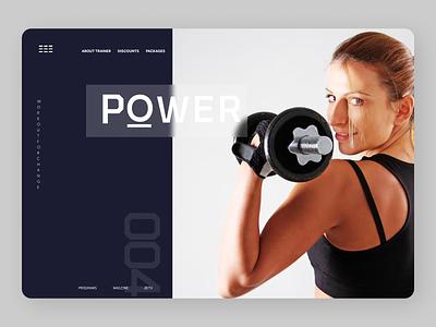Fitness Trainer Web design web ui ux design