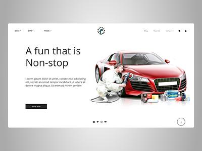Cars Reparing Web design uidesign shopify designs designer branding art web ux ui design